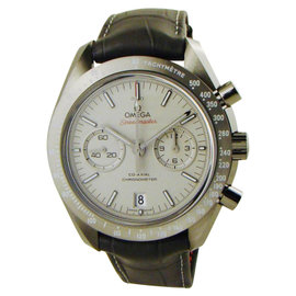 Omega Speedmaster Ceramic / Leather 44mm Mens Watch