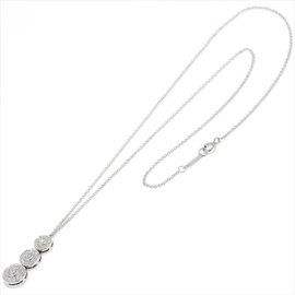 Tiffany & Co. 950 Platinum Circlet triple Drop Diamond Necklace