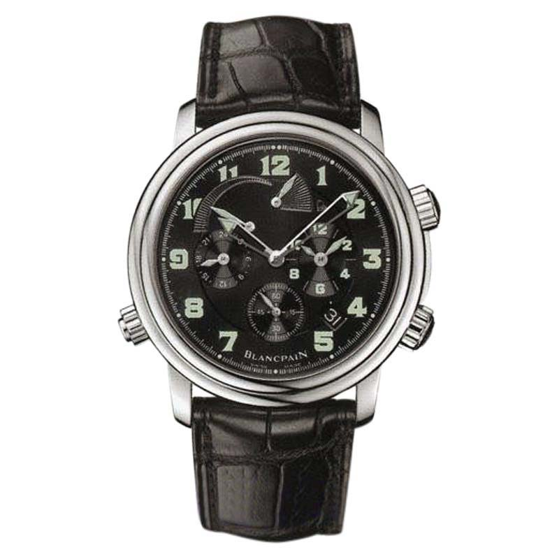 "Image of ""Blancpain Leman 2041-1130-53B Stainless Steel & Leather Automatic 40mm"""