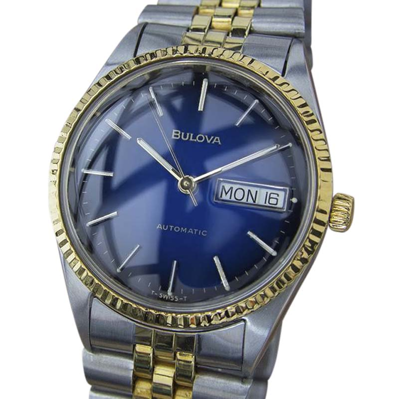 """Image of """"Bulova Gold Plated Stainless Steel Vintage 35mm Mens Watch"""""""