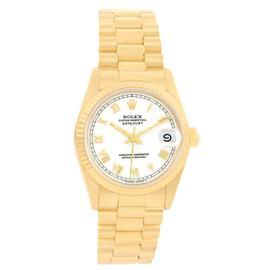 Rolex Datejust 68278 18K Yellow Gold 31mm Watch