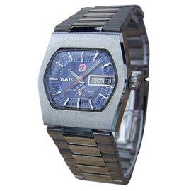 Rado Silver Sabre Stainless Steel Automatic Vintage 34mm Mens Watch Year 1960