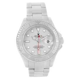 Rolex Yachtmaster 16622 Stainless Steel & Platinum Dial Automatic 40mm Mens Watch