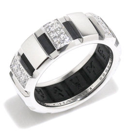 Chaumet 18K White Gold with Diamond & Rubber Class One Ring Size 5.75
