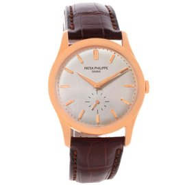 Patek Philippe Calatrava 5196R 18K Rose Gold 37mm Watch