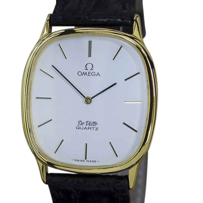 """Image of """"Omega DeVille Gold Plated and Stainless Steel Vintage 38mm Mens Watch"""""""