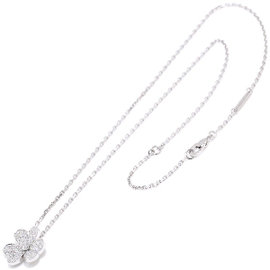 Van Cleef & Arpels 750 White Gold and 0.08ct Diamond Necklace