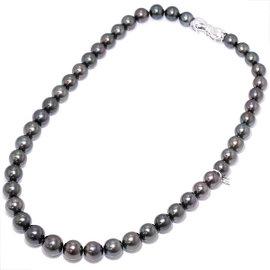 Mikimoto 18K White Gold Black Pearl Necklace