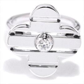 Louis Vuitton 18K White Gold & Diamond Petit Berg Fleur Ring