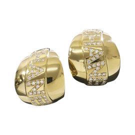 Chanel 18K Yellow Gold & Diamond Earrings