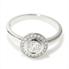 Cartier 950 Platinum and 0.25ct Diamond Ring Size 5