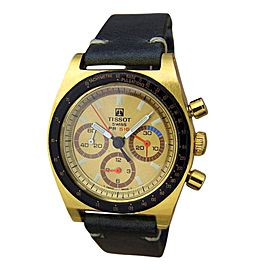 Tissot PR516 Gold Plated Swiss Made Chronograph 35mm Mens Watch 1970s