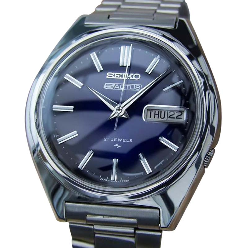 "Image of ""Seiko Actus 5 Stainless Steel Automatic Japanese 38mm Mens Watch 1970s"""
