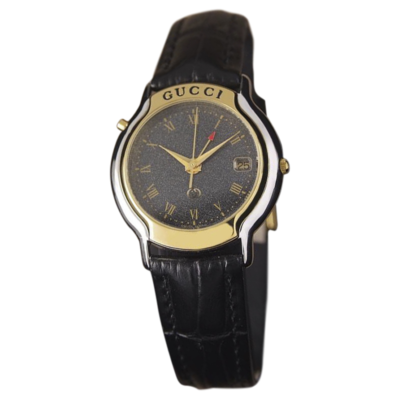 "Image of ""Gucci 8200M Gold Plated and Stainless Steel Quartz 33mm Mens Dress"""
