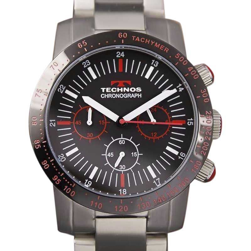 "Image of ""Technos Chronograph C2000 YY8 Stainless Steel 43mm Mens Watch"""
