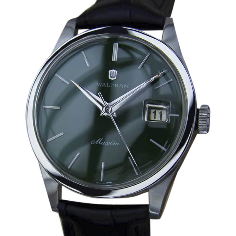 """Image of """"Waltham Maxim Yy17 Stainless Steel Manual Vintage 36mm Mens Watch"""""""