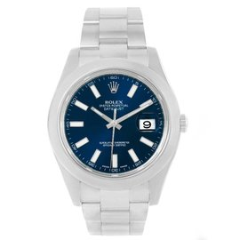 Rolex Datejust II 116300 Stainless Steel & Blue Dial 41mm Mens Watch