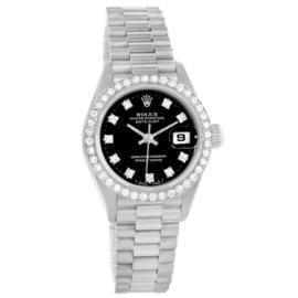 Rolex Datejust 69139 18K White Gold & Diamond 26mm Womens Watch