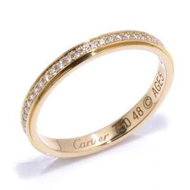 Cartier 18K Pink Gold and Diamond Ring Size 4.5