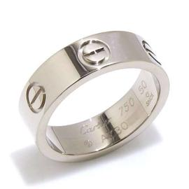 Cartier Love Ring 18K White Gold Ring Size 5.25