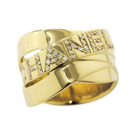 Chanel 18K Yellow Gold Diamond Ring Size 7