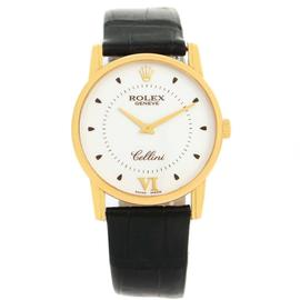 Rolex Cellini Classic 5116 18K Yellow Gold & Silver Dial 31.8mm Mens Watch