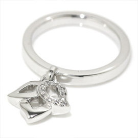 Piaget 750 18K White Gold Magic Garden Diamond Ring Size 7.5