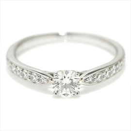 Tiffany & Co. Platinum 0.29ct Diamond Harmony Ring Size 4.25