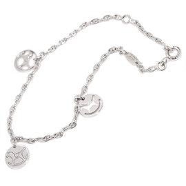 Hermes 18K White Gold 750 Dada Bracelet