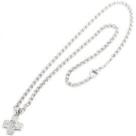 Chopard 18K White Gold Happy Diamond Cross Necklace