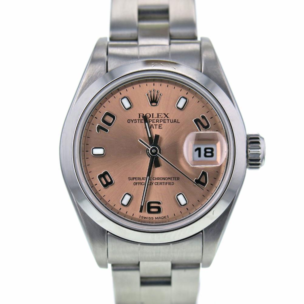 """Image of """"Rolex DateJust 79160 Stainless Steel Salmon Dial Automatic 26mm Womens"""""""