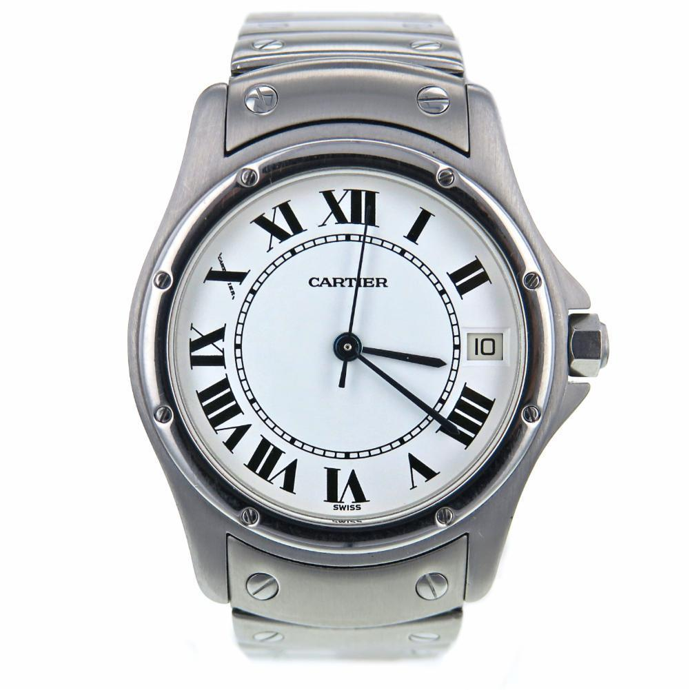 """Image of """"Cartier Santos Ronde 1920 Stainless Steel White Dial 33mm Women's"""""""