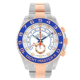 Rolex Yachtmaster II 116681 Stainless Steel & 18K Rose Gold 44mm Mens Watch