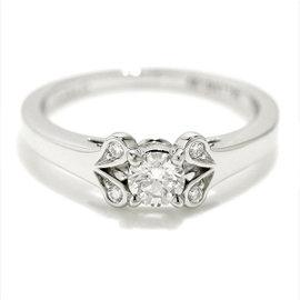 Cartier Ballerine Platinum 0.23ct Diamond Ring Size 4.5