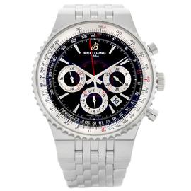mens designer watches breitling 9u2o  Breitling Montbrillant A23351 Stainless Steel Automatic 47mm Mens Watch