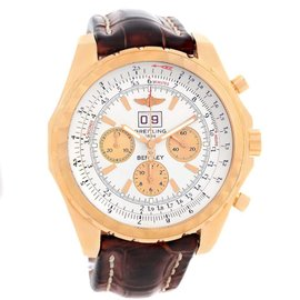 Breitling Bentley H44363 18K Rose Gold Automatic 48mm Mens Watch