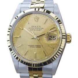 Rolex Datejust 16013 Stainless Steel / 18K Gold Vintage 36mm Mens Watch