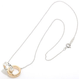 Tiffany & Co. 925 Sterling Silver 18K Rose Gold Necklace