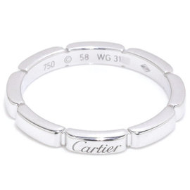 Cartier Maillon Panthere 18K White Gold 750 Ring Size 8.5-8.75