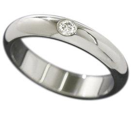 Cartier Classic Platinum Diamond Ring Size 4.5