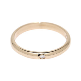 Cartier Classic 18K Rose Gold Diamond Band Ring Size 4.75