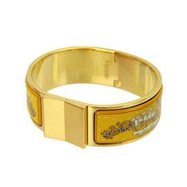 Hermes Cloisonne & Enamel Email GM Bangle Bracelet