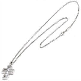 Chopard Happy Cross 18K White Gold Diamond Necklace