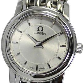 Omega DeVille Prestige Stainless Steel Silver Dial Quartz 22mm Womens Watch