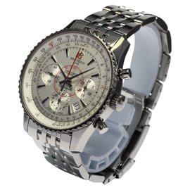 Breitling MontBrilliant Chronograph Stainless Steel AB0130 Automatic 40mm Mens Wrist Watch