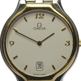 Omega Deville Stainless Steel / Yellow Gold Quartz 32mm Mens Wrist Watch