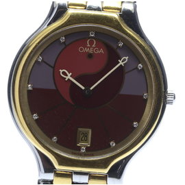 Omega Deville 2 Tone Stainless Steel and Yellow Gold Quartz 32mm Mens Wrist Watch