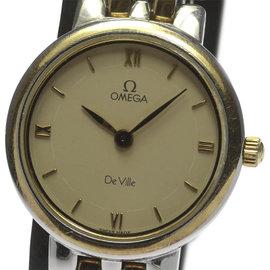 Omega Deville Stainless Steel/Yellow Gold Quartz 23mm Womens Wrist Watch