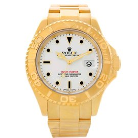 Rolex Yachtmaster 16628 18K Yellow Gold White Dial Automatic 40mm Mens Watch