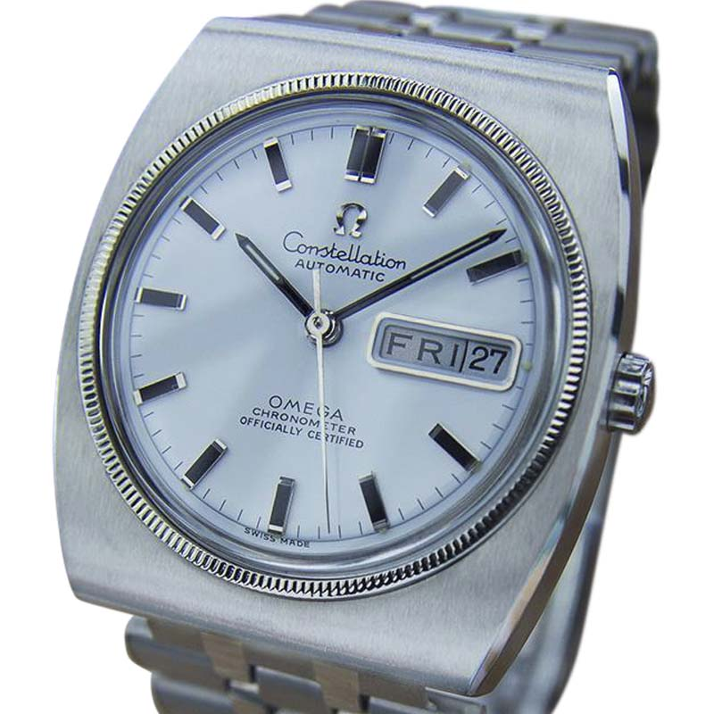 """Image of """"Omega Constellation Stainless Steel with White Dial Vintage 36mm Mens"""""""